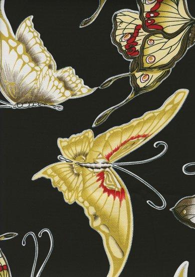 Enchanted Butterflies - Retro Japanese Cotton Lycra Fabric Fat Quarter