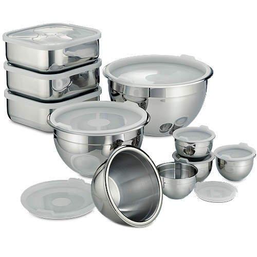 20 Pc. Stainless Prep & Storage Bowls