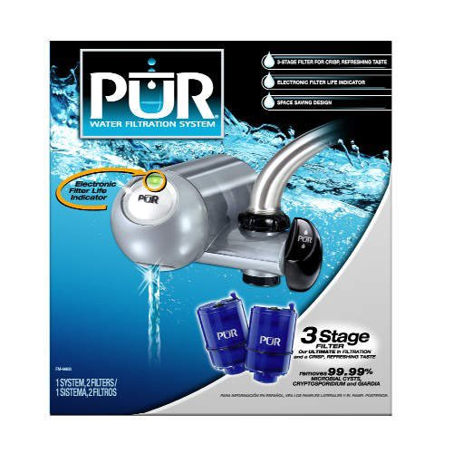 PuR Horizontal Faucet Mount Water Purification System