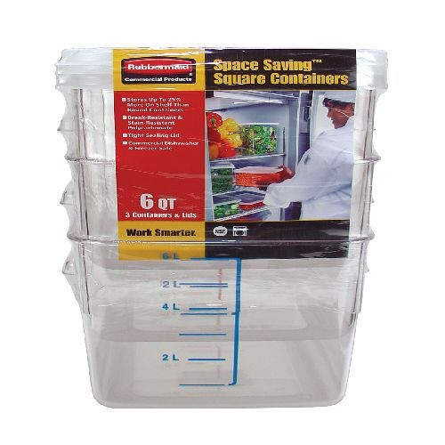 Rubbermaid� Space Saving� 6qt. Containers (3 pack)
