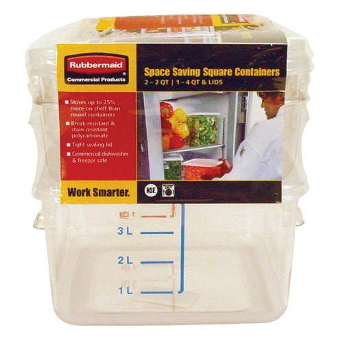 Rubbermaid� Square Containers Combo (3 pack)