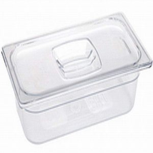 Rubbermaid 1/6 size Cold Food Pan with Lid  (2pk)