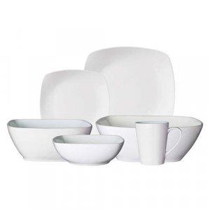 Gibson Elite Dinnerware Set - White Porcelain (34 pcs.)