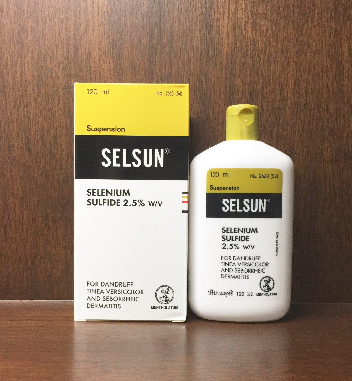 SELSUN Anti-Dandruff Itching Selenium Sulfide 2.5% Shampoo 120ml./4oz.