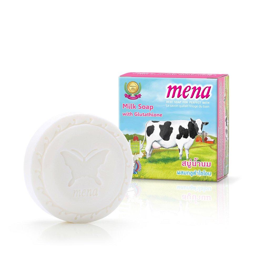 MENA Milk Soap With Glutathione Lightening Anti-Aging Wrinkle Soap 130g./4.6oz.