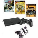 Smaller, Slimmer and Network Ready PlayStation 2 Family Value Bundle.