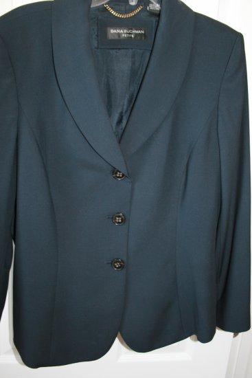 Dana Buchman Black Jacket Blazer Size 16P