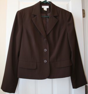 Worthington Chocolate Blazer Size 14