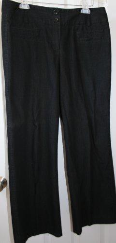 New Directions Petite Black Denim Wash Pants Size 14P