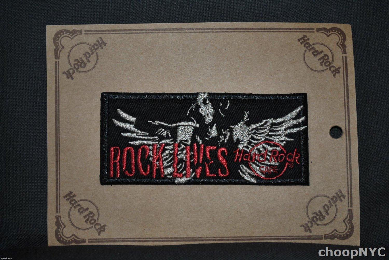 "Hard Rock Cafe ""ROCK LIVES"" Iron On Patch Badge"