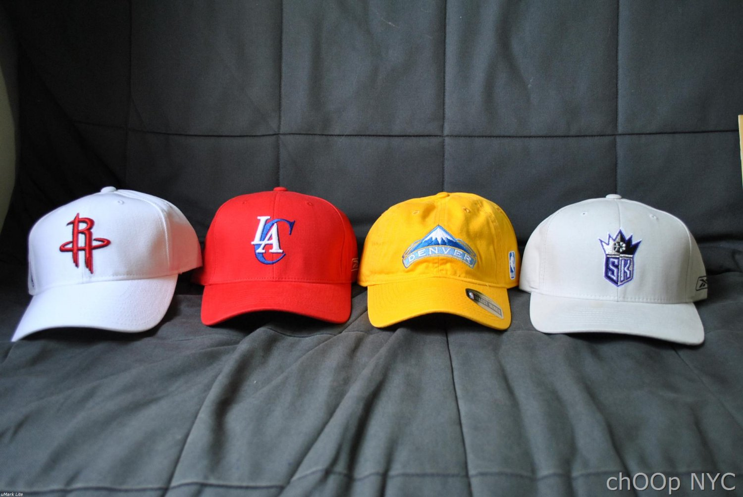 Lots of 4 Authentic NBA Caps by Reebok