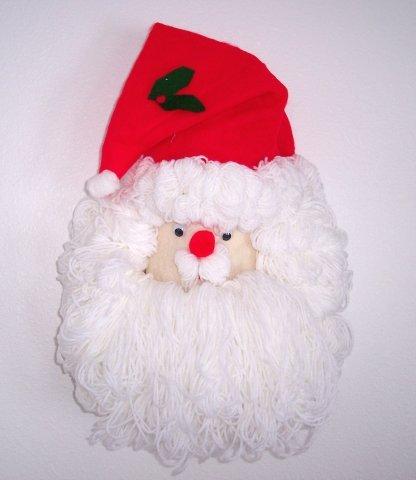 Handmade Christmas Santa Claus Wall Hanging - XMAS YEAR ROUND