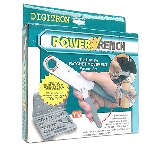 29-Piece Power Wrench Set w/Case Powerwrench AS SEEN ON TV
