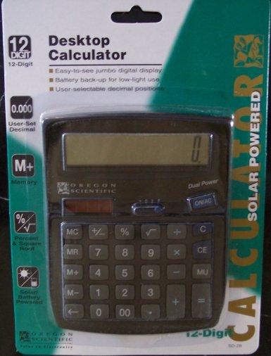Oregon Scientific SD-28 12-Digit Desktop Calculator