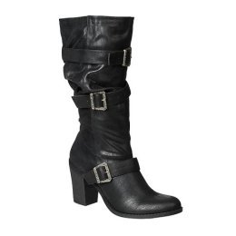 CLEARANCE - 75% OFF - Xhilaration® Fergie Scrunch Buckle Boots - Black - Size 8½
