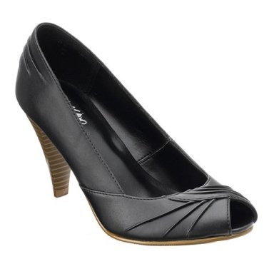 CLEARANCE - 70% OFF - Mossimo® Delano Cone-Heel Peep Toe Pumps - Black - Size 6