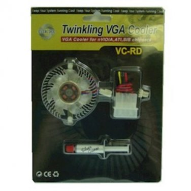 VIO CH-RD Twinkling VGA Cooler Kit -Heatsink, Fan +Thermal Paste - FREE SHIPPING