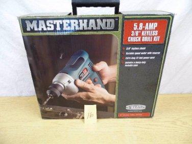 NEW Masterhand Keyless Chuck Drill Set