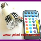 FREE SHIP ~ RGB LED 5W E27 110V 240V color chang bulb + 1remote