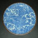 """20thc Japanese Igezara Blue White Plate Flower Blossom (10"""")"""