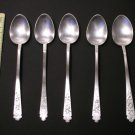 "Five Vintage Oriental Korean Silver SPOONS Marked ""銀"" (L: 18cm)"