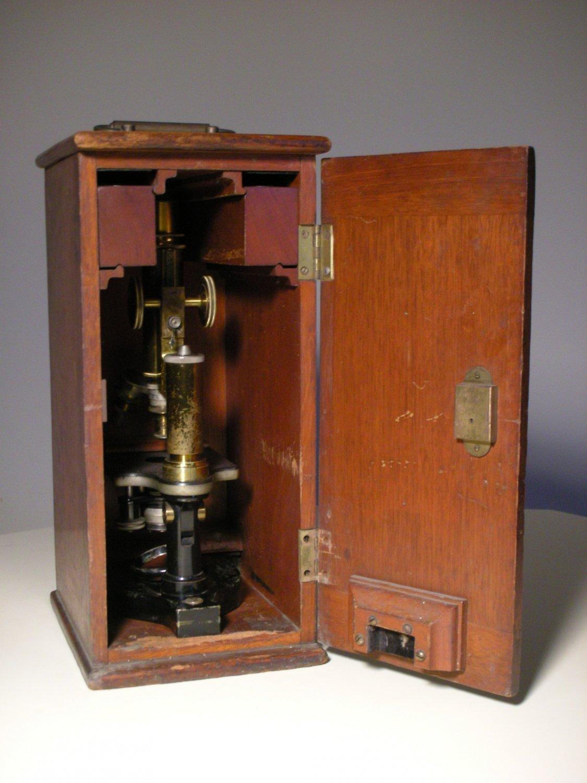 Antique Arthur H Thomas Bausch Lomb American Microscope