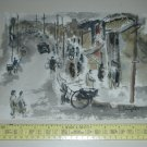 Vintage Original NORMAN RUBINGTON Brush Watercolor Painting