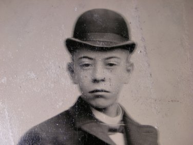 Antique Photograph Metal Plate Tintype of a Young Man