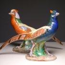 Vintage Italian Italy Pottery Figurine of Pheasants Male Female Bird (PAIR)