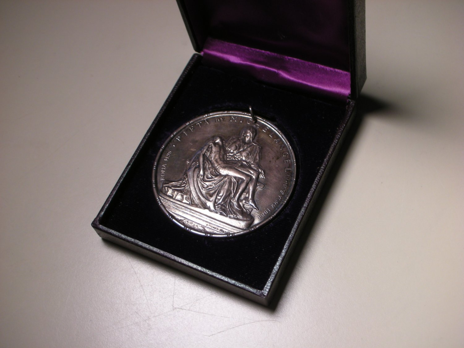 1964 Towle Sterling Silver Medal Medallic Art Limted Edition Series - Pieta