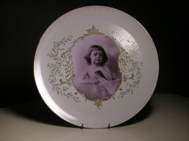 Antique Thun TK Photograph Large Wall Serving Porcelain Family Heirloom Plate #2