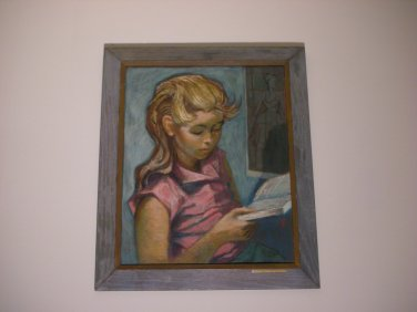 """LOCAL PICKUP ONLY - Original American MARTIN ZIPIN Oil Painting on Canvas Board - Title """"Tina"""""""