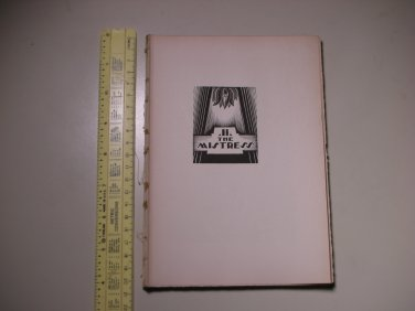 1929 God's Man A Novel in Woodcut Lynd Ward - PAGES ONLY - BOOK 2 - THE MISTRESS