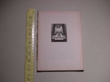 1929 God's Man A Novel in Woodcut Lynd Ward - PAGES ONLY - BOOK 3 - THE BRAND