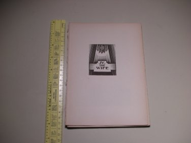 1929 God's Man A Novel in Woodcut Lynd Ward - PAGES ONLY - BOOK 4 - THE WIFE