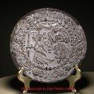 20thc Austria Hallstatt Clay Mould Pottery Slip Glaze Round Wall Plaque Object