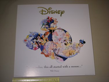 LOCAL PICKUP ONLY - 1990s Disney Art Editions Poster Print - Mickey Mouse