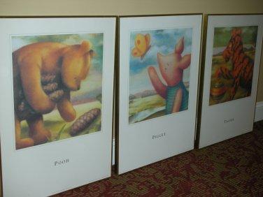 LOCAL PICKUP ONLY - 20thc Walt Disney Art Classic Poster Print - Pooh, Piglet, Tigger (3PCS)