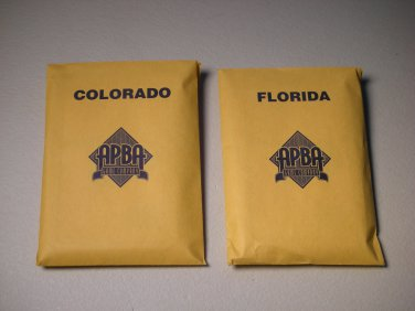1996 APBA Pro Hockey Board Game PARTS ONLY - Team Colorado & Florida