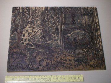 "Original Amateur Woodcut Carving Board - ""Pigs have advanced senses"""