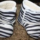 Zebra Print Crib Boots