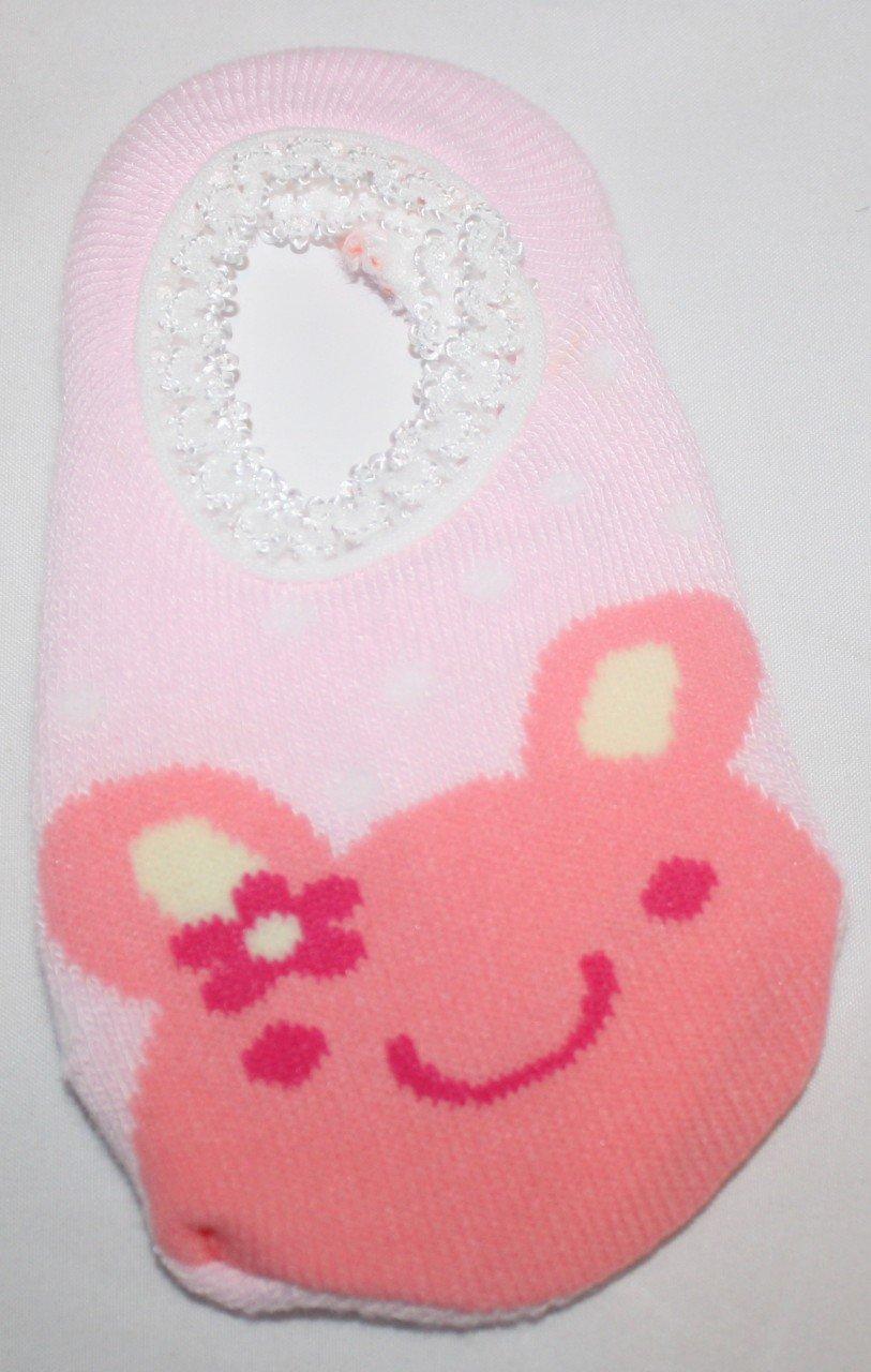 Pink Polka Dot Bunny Socks