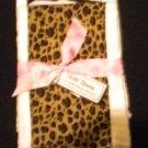 Animal Print Burp Cloth Set