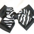 "6"" Zebra Print Stacked Bow"