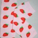 Pink Strawberry Leg Warmers