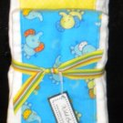 Blue Elephant Burp Cloth Set
