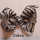 """4 1/2"""" zebra bow"""