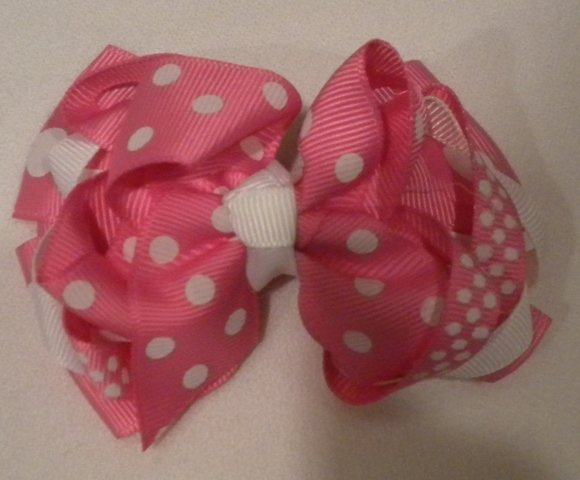 """4 1/2"""" hot pink boutique bow"""