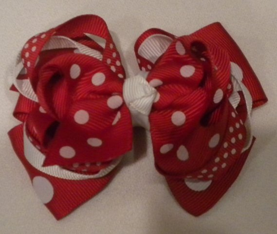 """4 1/2"""" red boutique bow"""