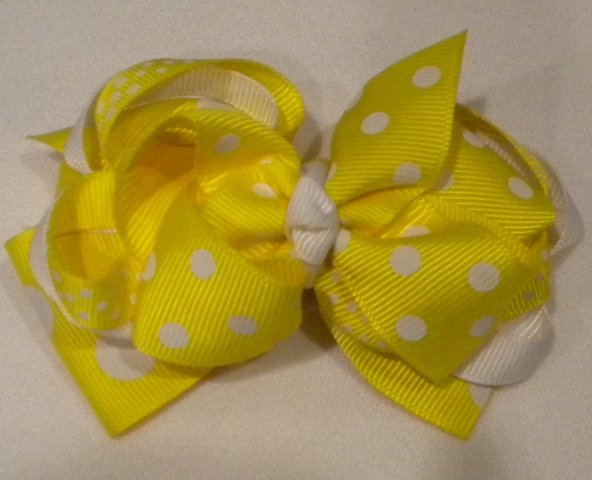 "4 1/2"" yellow boutique bow"